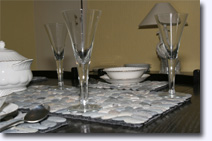 Large and small stone place mats - Click for larger image