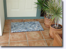 Stone floor mats and doormats - Click for more information